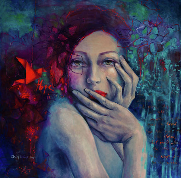 Wall Art - Painting - The Red Bird by Dorina Costras