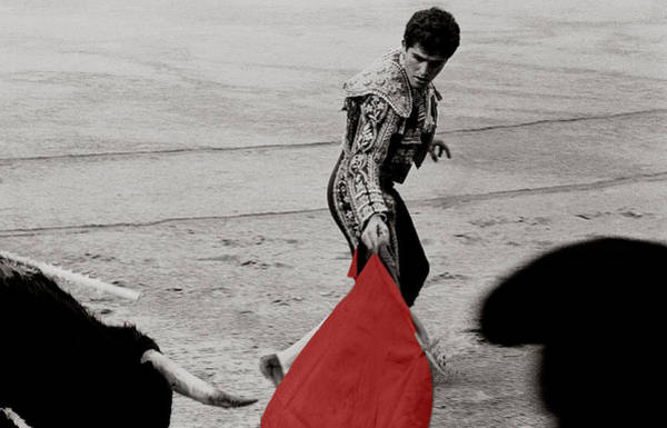 Toreador Photograph - The Red Cape by Michael Mogensen