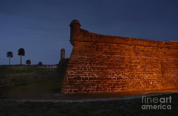 Saint Augustine Photograph - The Red Castillo by David Lee Thompson
