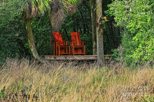 Wall Art - Photograph - The Red Chairs by Deborah Benoit