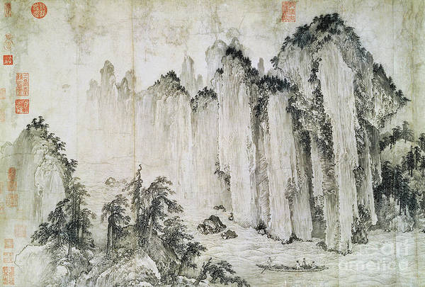Ming Tree Painting - The Red Cliff by Wu Yuanzhi