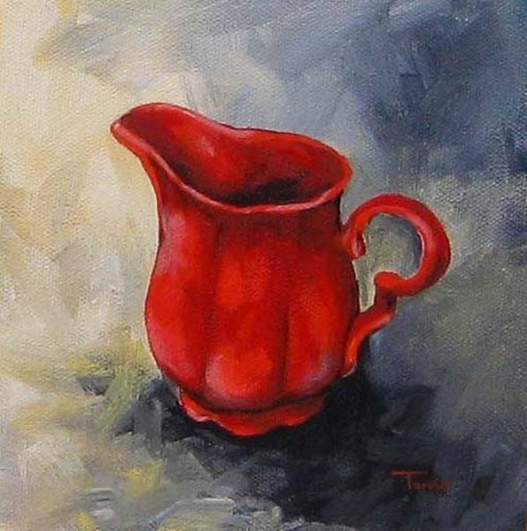 Wall Art - Painting - The Red Creamer  by Torrie Smiley