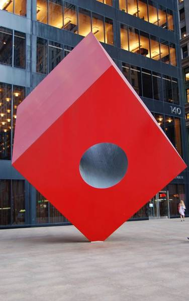 Wall Art - Photograph - The Red Cube by Christopher James