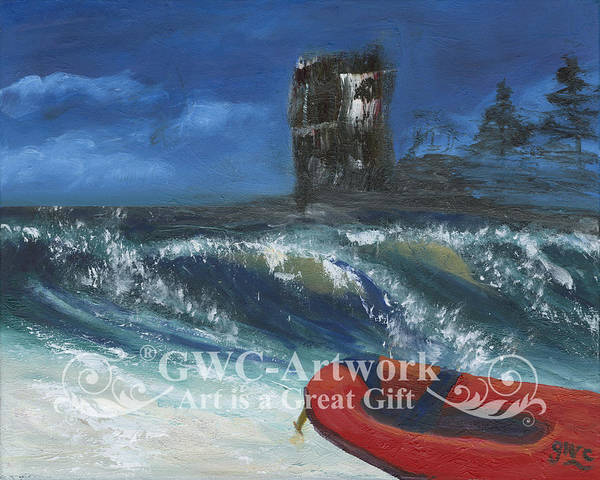 Wall Art - Painting - The Red Dinghy by Gloria Condon