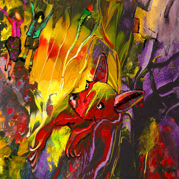 Painting - The Red Dog by Miki De Goodaboom