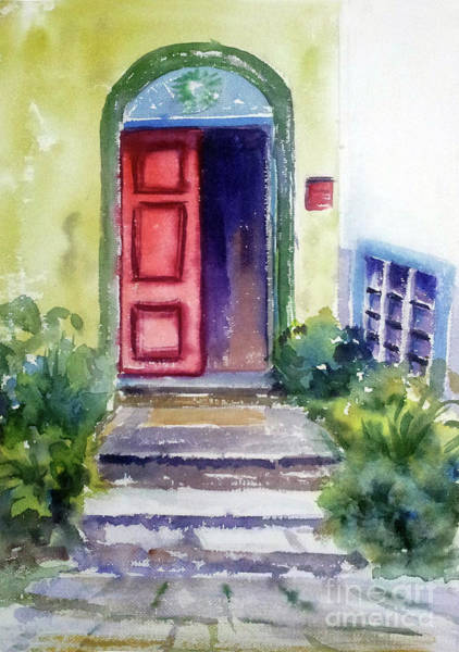 Painting - The Red Door by Asha Sudhaker Shenoy