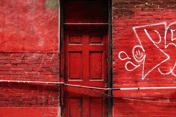 Graffiti Photograph - The Red Door Bar by Kreddible Trout