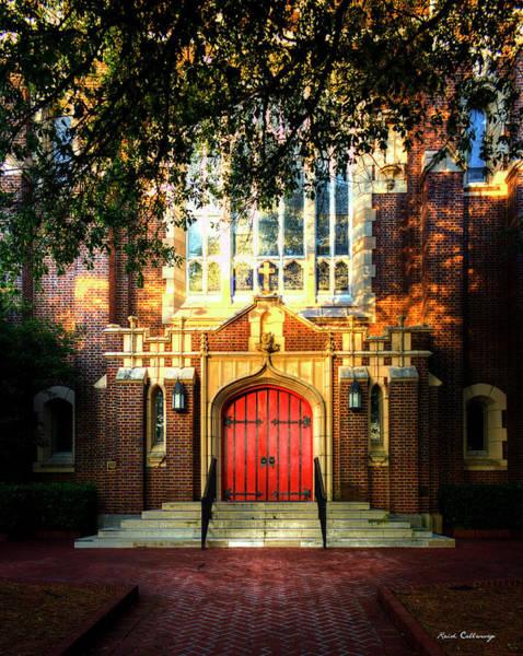 Photograph - The Red Door St Luke's Episcopal Church Art by Reid Callaway