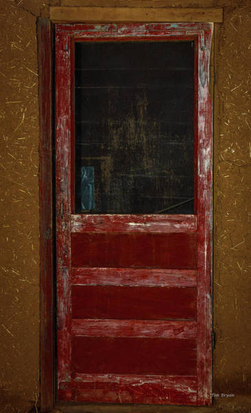 Photograph - The Red Door- Taos Pueblo by Tim Bryan