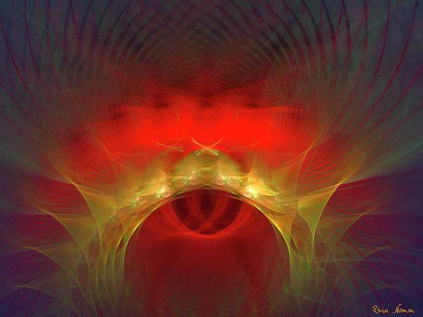 Digital Art - The Red Eye by Rein Nomm
