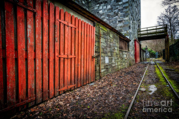 Lock Gates Photograph - The Red Gate by Adrian Evans