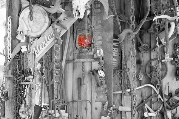 Timeworn Photograph - The Red Lantern by Marnie Patchett