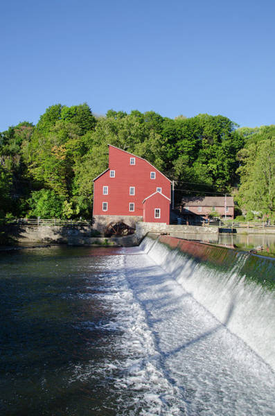 Photograph - The Red Mill  Raritan River - Clinton New Jersey by Bill Cannon