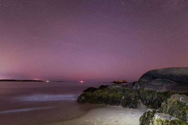 Photograph - The Red Moon Rising On Singing Beach In Manchester-by-the-sea Ma by Toby McGuire