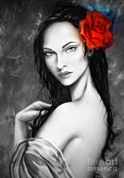 Painting - The Red Red Rose by Georgia's Art Brush