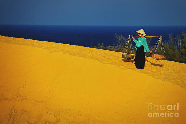 The Red San Dunes Of Mui Ne Vietnam Art Print