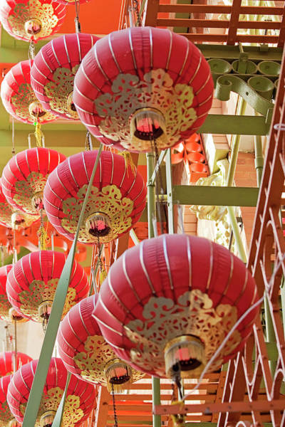 Wall Art - Photograph - The Red Sea - Chinatown Lanterns San Francisco by Melanie Alexandra Price
