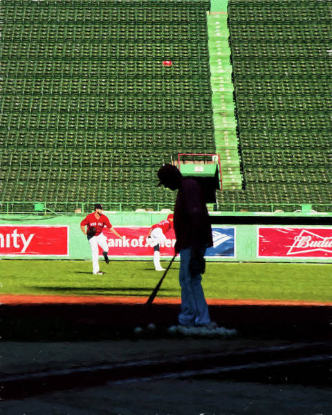 Photograph - The Red Seat - Fenway Park by Joann Vitali