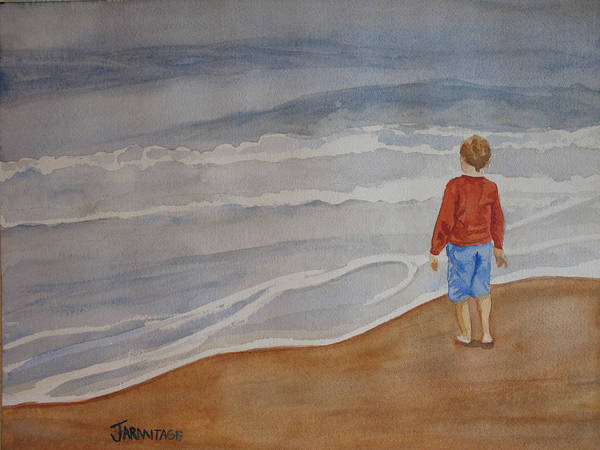 Wall Art - Painting - The Red Shirt by Jenny Armitage