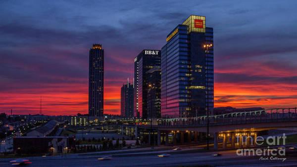 Atlanta Symphony Orchestra Photograph - The Red Sunset 2 Midtown Atlanta Cityscape Art by Reid Callaway