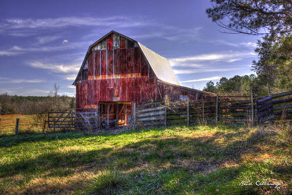 Photograph - The Red Tin Barn Union Point Georgia by Reid Callaway