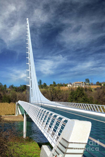 Photograph - The Redding Sundial Bridge by James Eddy