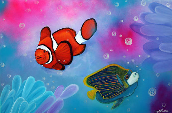 Wall Art - Painting - The Reef by Laura Barbosa