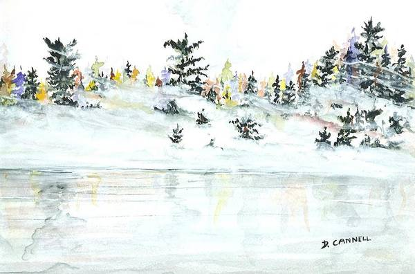 Painting - The Reflection Lake by Darren Cannell