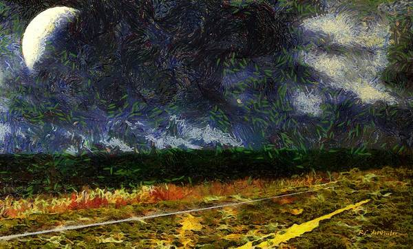 Painting - The Remains Of The Road by RC DeWinter