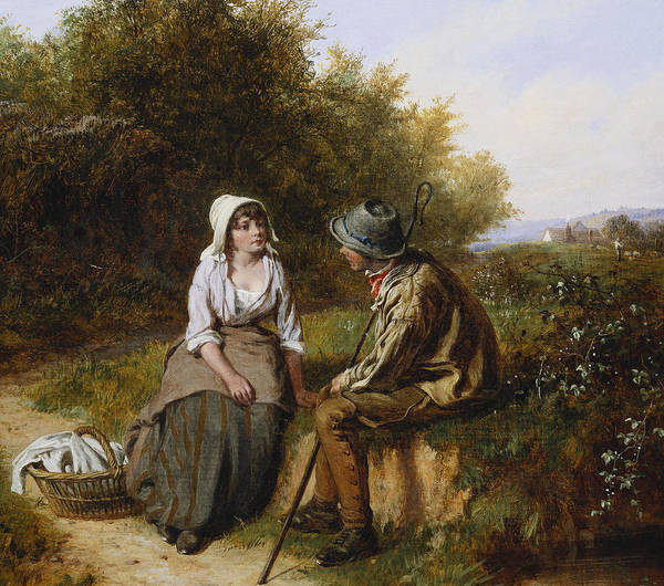 The Shepherdess Wall Art - Painting - The Rendezvous by William Bromley