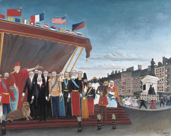 Painting - The Representatives Of Foreign Powers Coming To Greet The Republic  by Henri Rousseau