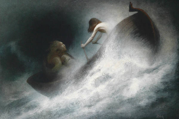 Painting - The Rescue by Karl Wilhelm Diefenbach