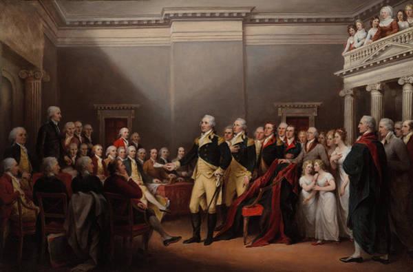 Congress Painting - The Resignation Of General Washington, Dec 23, 1783 by John Trumbull