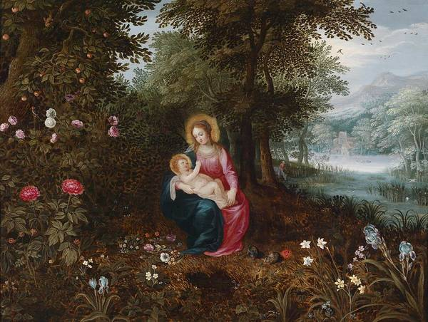Painting - The Rest On The Flight Into Egypt by Jan Brueghel the Younger
