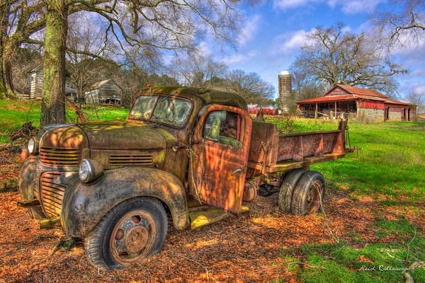 Photograph - The Resting Place 1947 Dodge Dump Truck Georgia Farm Art by Reid Callaway