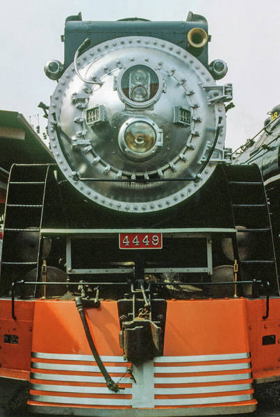 Photograph - The Restored Southen Pacific Daylight Locomotive No. 4449 by Frank DiMarco
