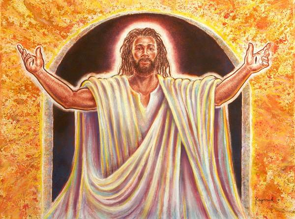 Wall Art - Painting - The Resurrection And The Life by Raymond Walker