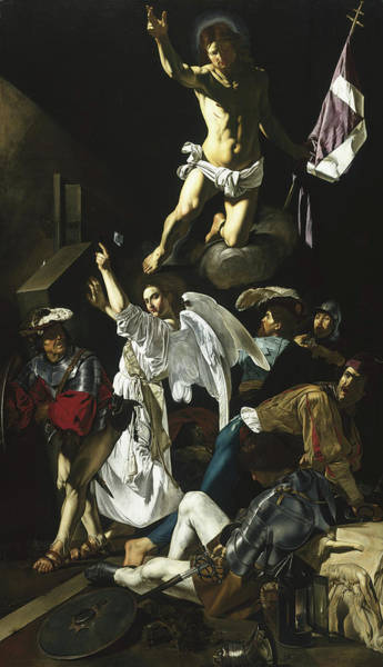Wall Art - Painting - The Resurrection by Cecco de Caravaggio