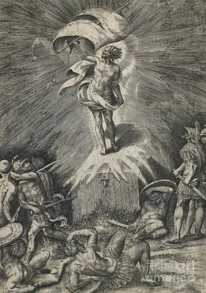Christian Drawing - The Resurrection by Giulio Bonasone