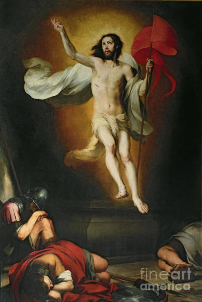 Ascension Painting - The Resurrection Of Christ by Bartolome Esteban Murillo