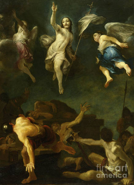 Wing Back Wall Art - Painting - The Resurrection Of Christ by Giuseppe Maria Crespi