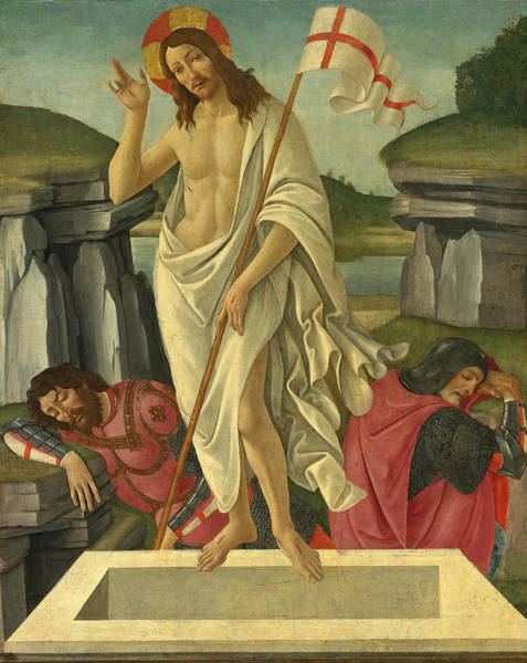 Botticelli Wall Art - Painting - The Resurrection by Sandro Botticelli and Studio