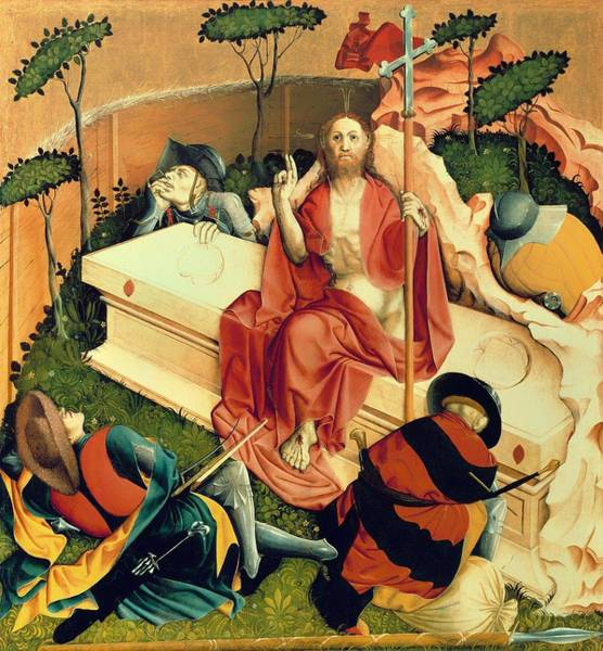Arisen Painting - The Resurrection - The Wings Of The Wurzach Altar by Mountain Dreams
