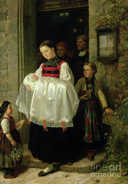 Painting - The Return From The Christening by Hubert Salentin
