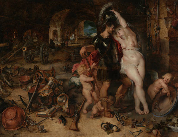 Painting - The Return From War- Mars Disarmed By Venus  by Peter Paul Rubens