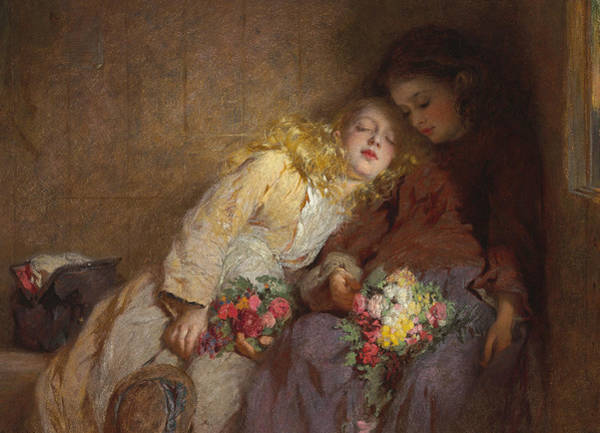Posy Wall Art - Painting - The Return Home by George Elgar Hicks