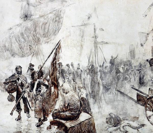 Corsair Painting - The Return Of The Corsairs by Maurice Henri Orange
