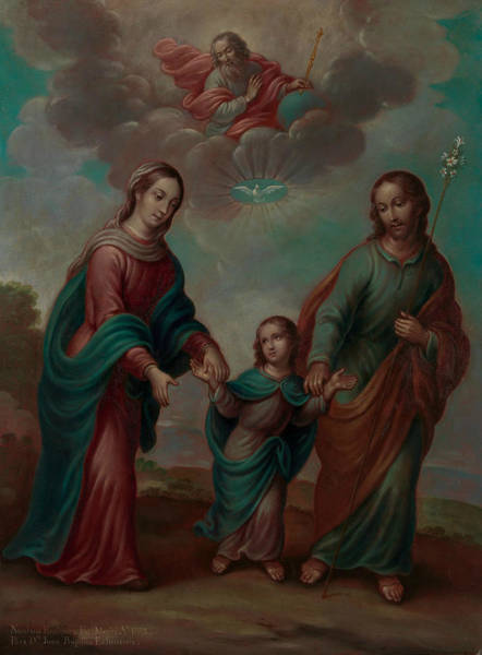 Painting - The Return Of The Holy Family From Egypt by Nicolas Enriquez