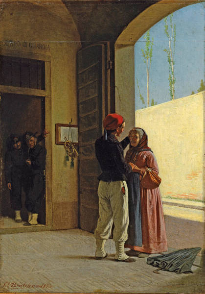 Cesare Painting - The Return Of The Soldier by Cesare Bartolena