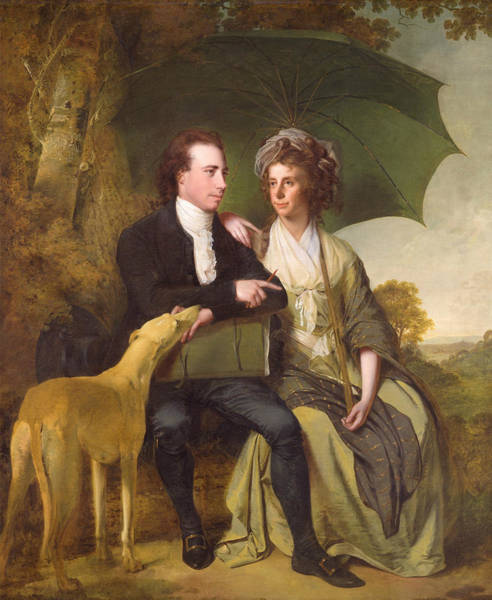 Painting - The Rev. And Mrs. Thomas Gisborne, Of Yoxhall Lodge, Leicestershire by Joseph Wright